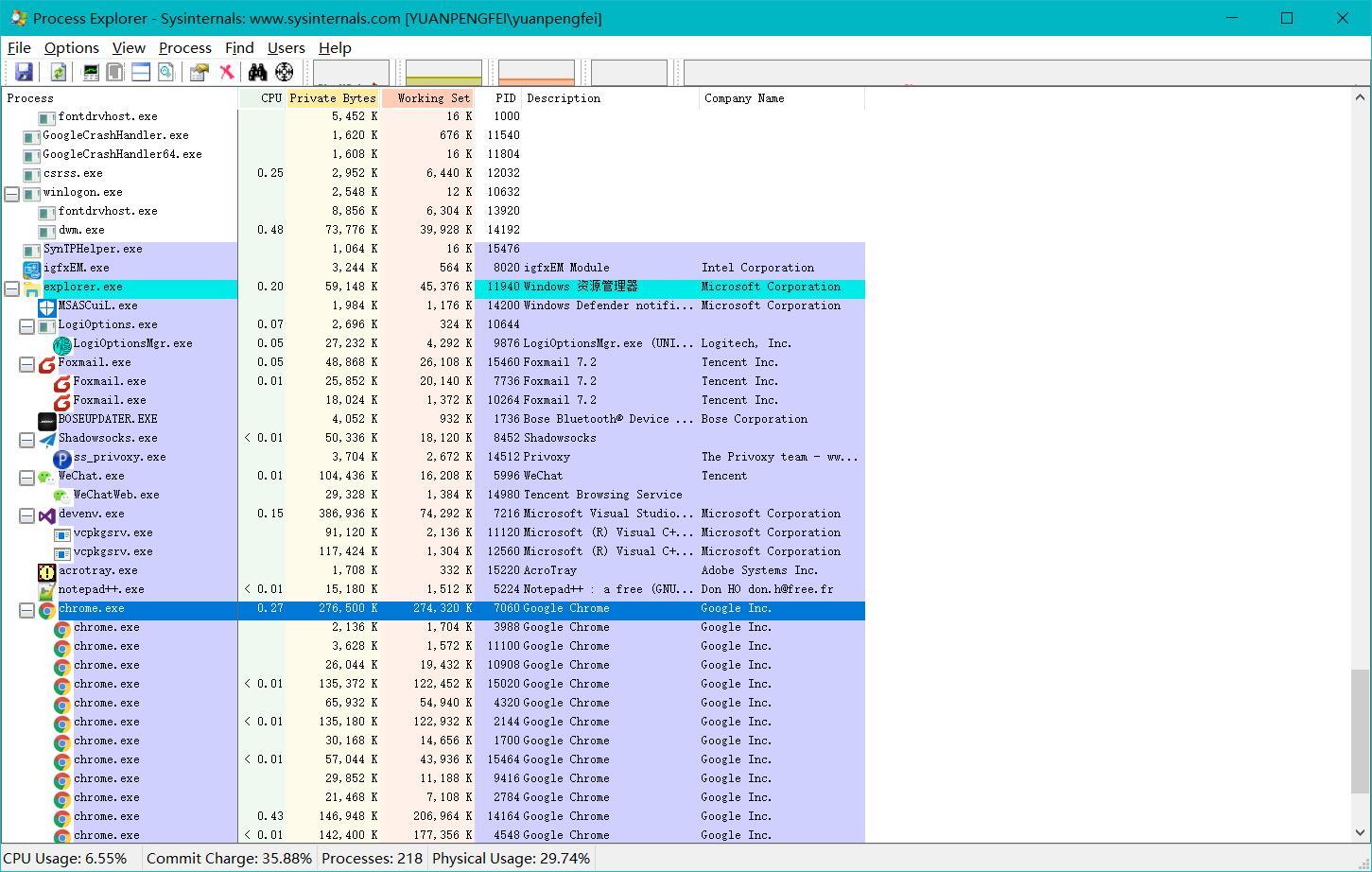 【精品软件】windows下进程分析工具process explorer